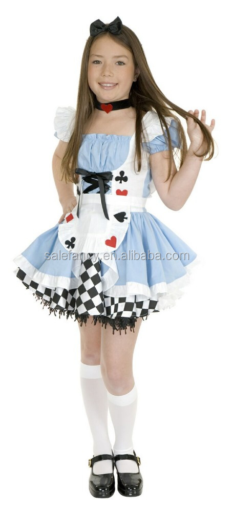 tail cosplay kids fairy tale alice halloween costume children kids cosplay costumes QBC-8676