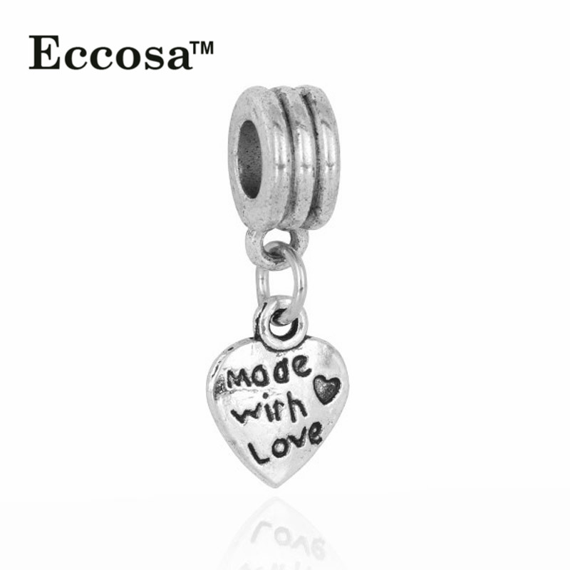 Wholesale Cheap Fashion <strong>Charms</strong>,Heart Shaped Pendant Fit Couple Bracelet pendant jewelry