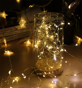 Night Light 3AA Battery Powered Copper Wire Indoor Outdoor Christmas Holiday Decoration Fairy String Lights with Battery Box