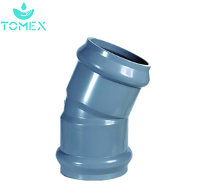 Made in China plumbing material PVC/CPVC/PPR rubber joint pipe fittings 22.5 degree bell elbow for water supply products