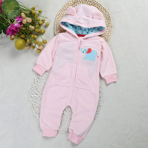 P0055 Hot sale organic cotton baby romper Long sleeve terry cloth romper