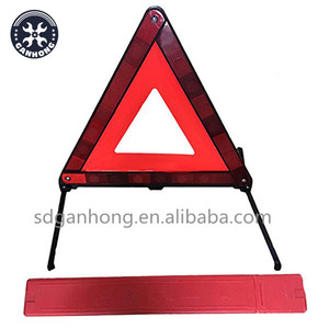 Warning Board Portable Plastic Triangle Orangered Car Hazzard Road Safety