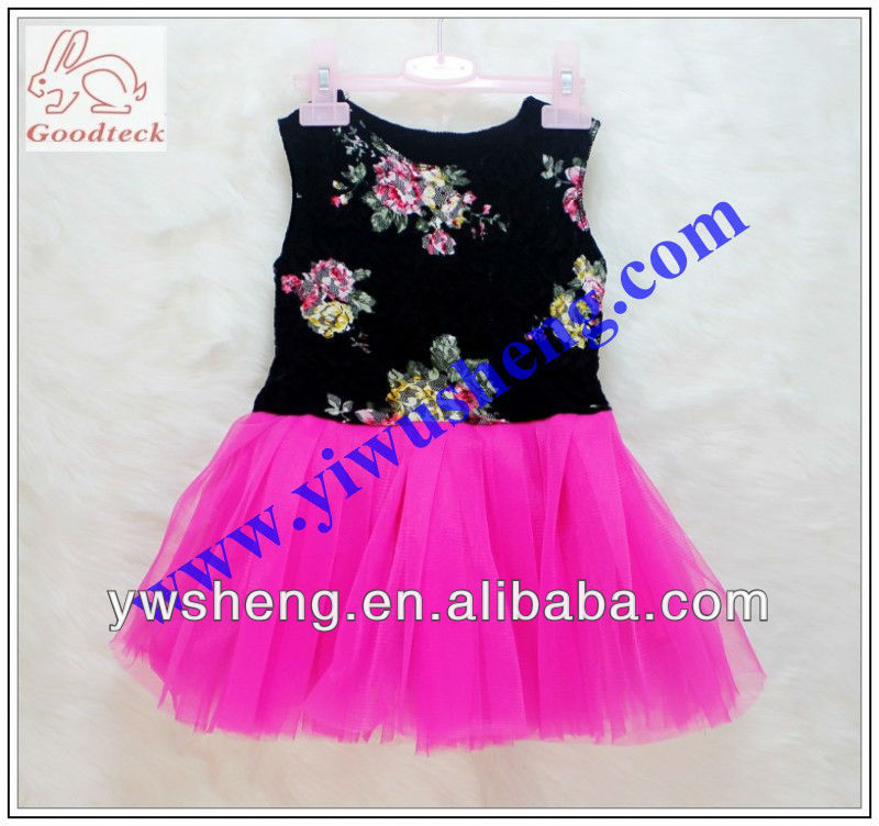 baby floral dresses fashion girl's party dress baby patterns