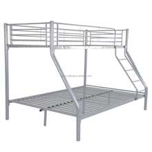 Wholesale cheap price metal bunk bed in silver finish