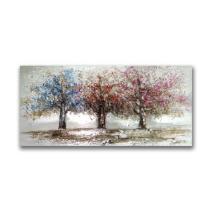 Abstract Colorful Trees Oil Painting On Canvas for Decoration