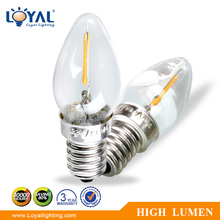 low power high efficiency IP68 waterproof e14 0.6w led filament car bulb