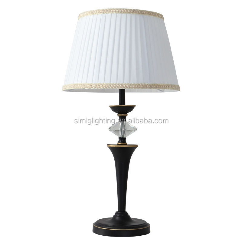 Romantic Table Lamp White Simple Lace fabric shade decoration table lamp