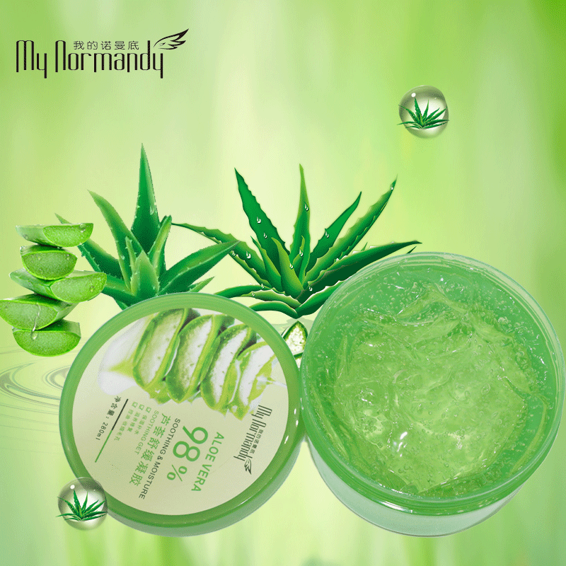 Private Label Aloevera Gel Moisturizing Face Cream with Remove Acne Sun Repair Aloe Vera Soothing Gel