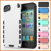 Hybrid pc+tpu super slim cover case For iphone5/5s