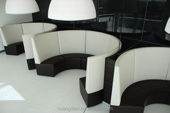 Round Design Restaurant Leather Sofa Booth Buy