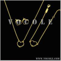 Color paint heart pendant chain jewelry set- Ebay/Amazon Supplier
