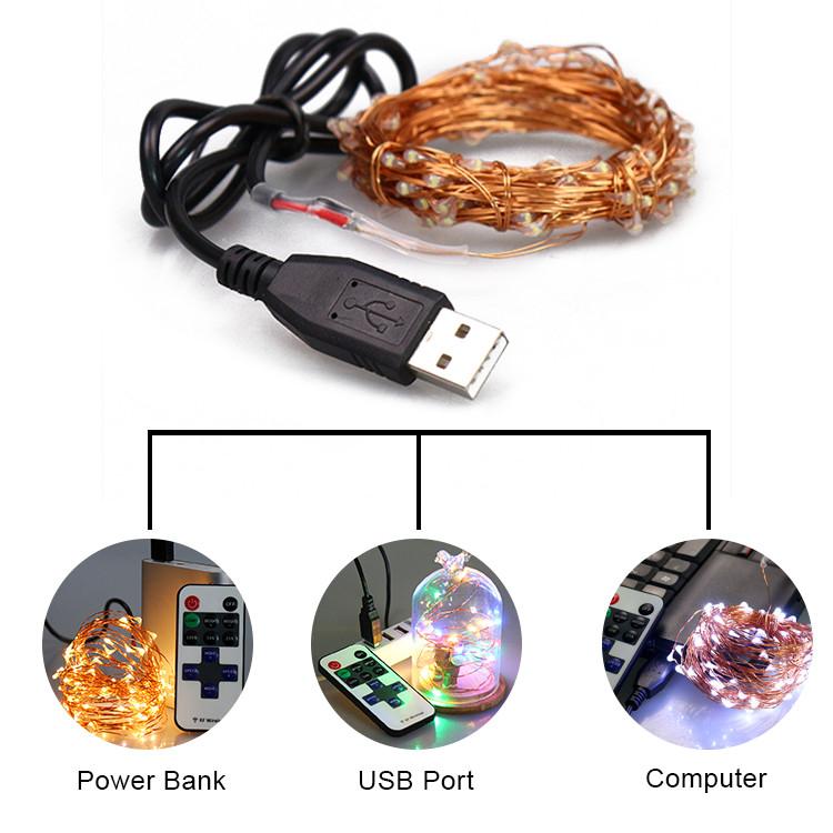 China Novelties 10m 33ft 100 Leds Remote Controlled Usb Led String Lights - Buy Remote ...