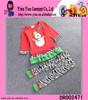 Red Tops Cotton Christmas Costume Snowman Design Cotton Christmas Costume