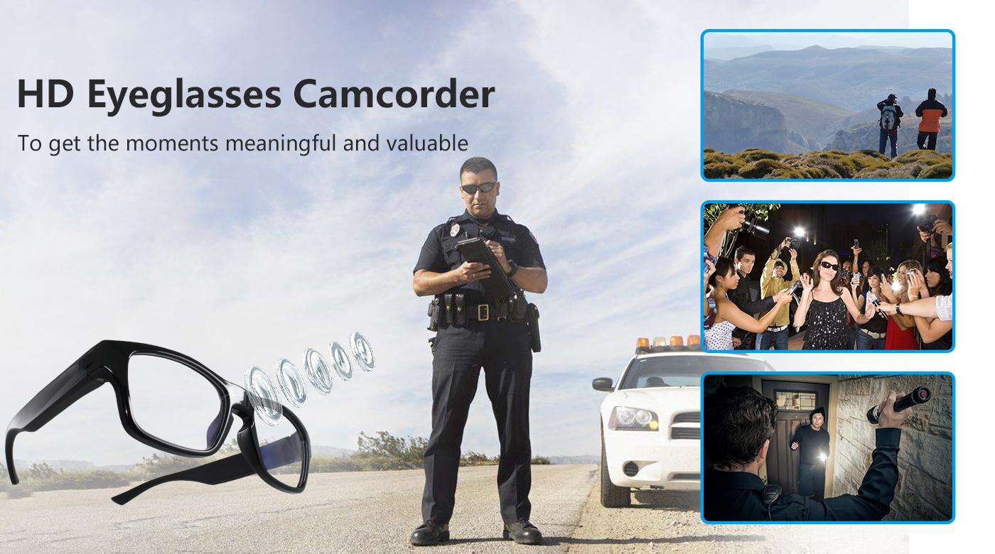 Görünmez casus kamera ile Moda Tasarım Giyilebilir gözlük 1080 P HD kamera casus gizli gözlük kamera