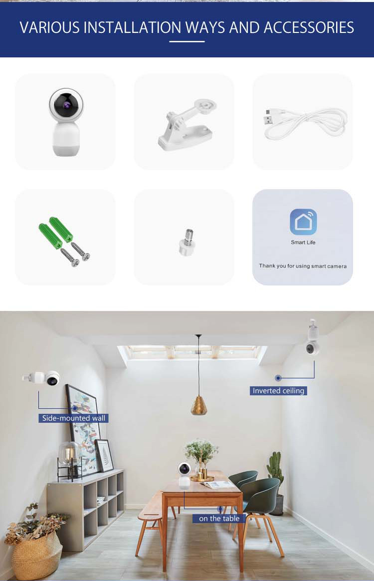 HH smart IP camera CF091 is remote control mini Camera,  ip camera TUYA