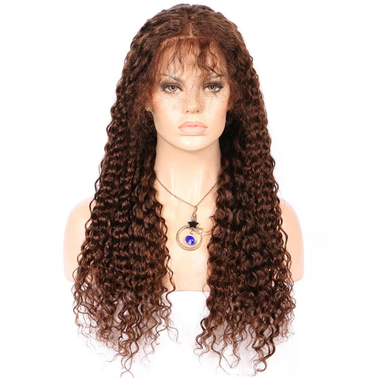 Raw virgin unprocessed human hair kinky curly full lace wig with baby hair