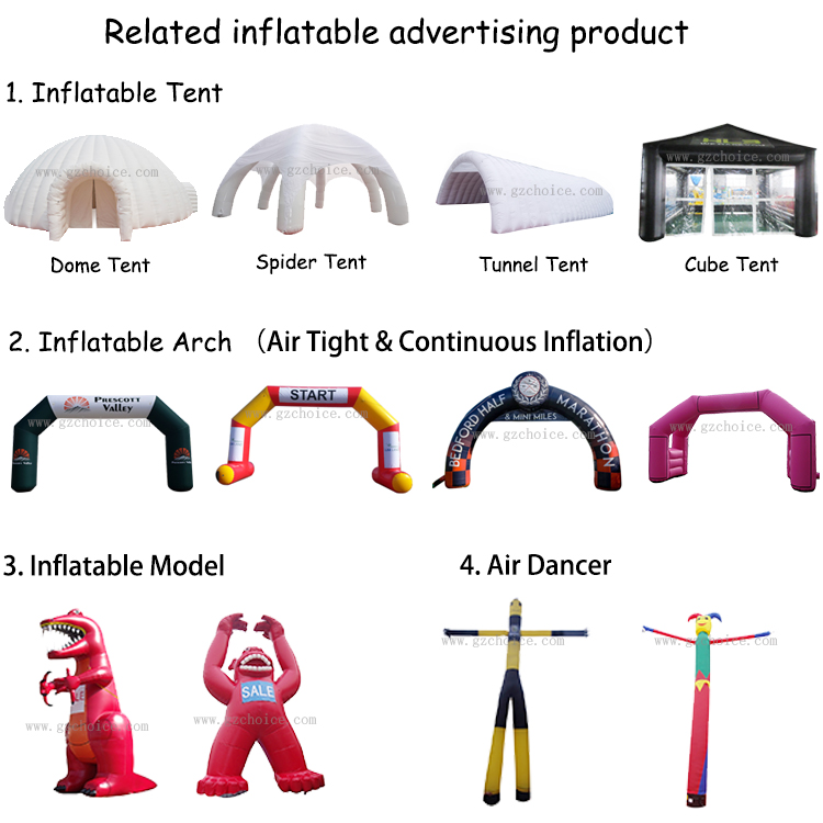 Guangzhou Factory Outdoor Entertainment Event Custom Inflatable Arch Half Marathon Inflatable Gate