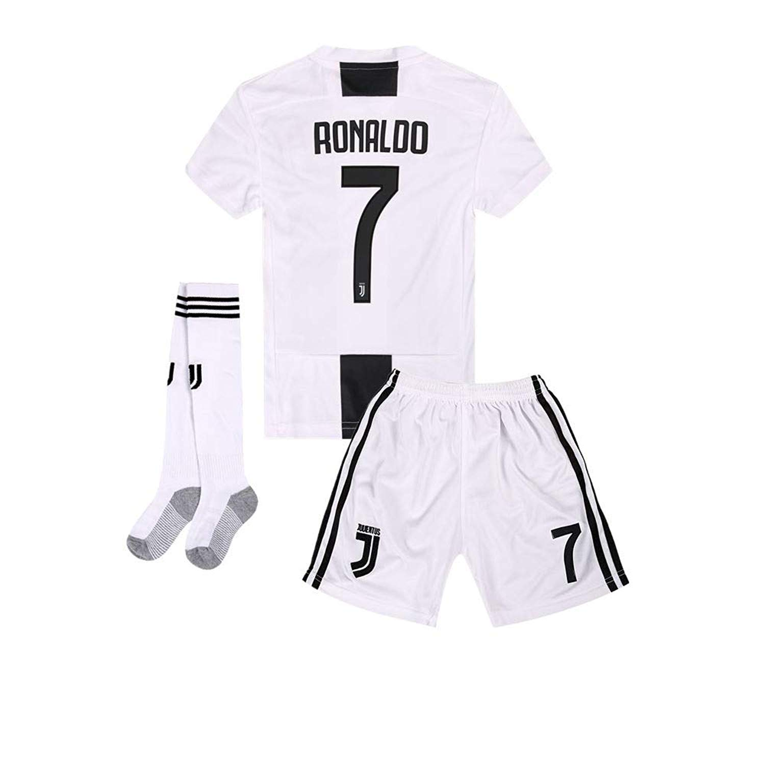 42f639008e5 Get Quotations · Yanfirstfc Juventus Home  7 Ronaldo 2018-2019 Kids Youth  White Soccer Jersey