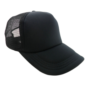 High Quality Custom Logo Fitted Youth Sized Ponytail USA 5 Panels Plain Blank Short Bill Foam Mesh Trucker Caps Hat