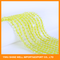 crystal roundel glass beads for making jewelrys