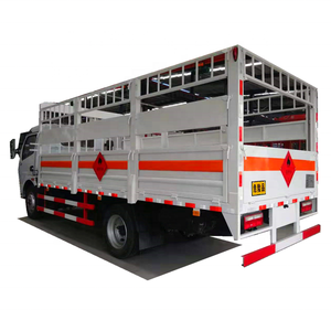 China 4x2 5tons 5 tons fence cargo lorry gas cylinder carrier transport truck for sale