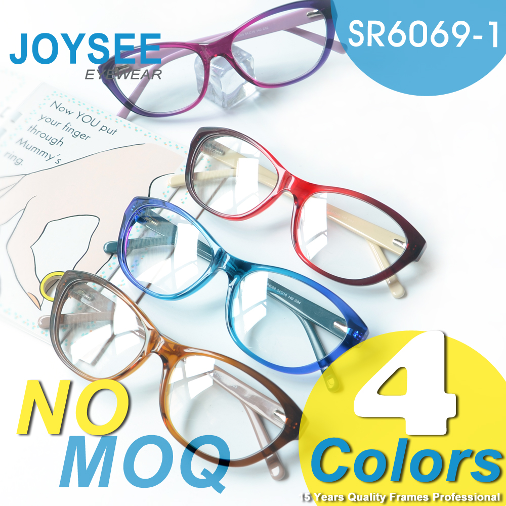 Joysee Newest Mode Trendy Acetate Cat-Eye Western Eyewear Ideal Optics Frames For Low Vision