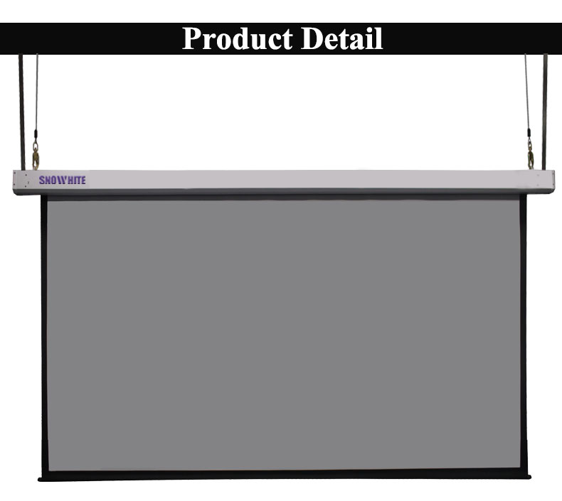 200''Inch 16:9 Integrated Lifting Motorized Sky Projection Screen