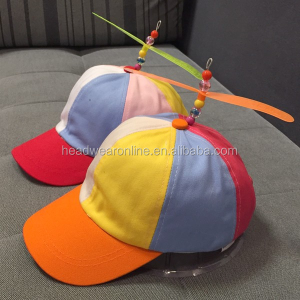 a07499840f509 Mixed Color Baseball Hat With Helicopter Propeller Kid Toys Hat cap ...