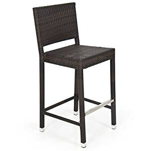Outdoor Wicker Barstool All Weather Brown Patio Furniture New Bar Stools