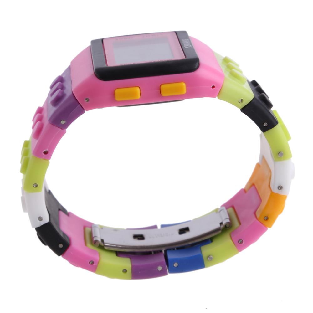 Унисекс многофункциональным цифровые часы конструктор романтические цветов для любителей спорта ретро шик