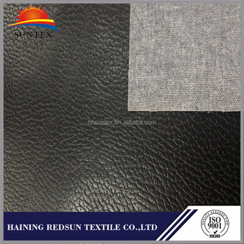Black Faux Leather Upholstery Fabric Factory Cheap Fo Fur Fabric