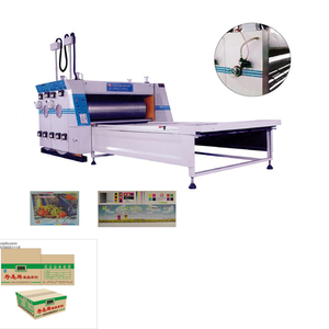 Flexo printer slotter die cutting Shanghai supplier corrugated carton box slotting machine