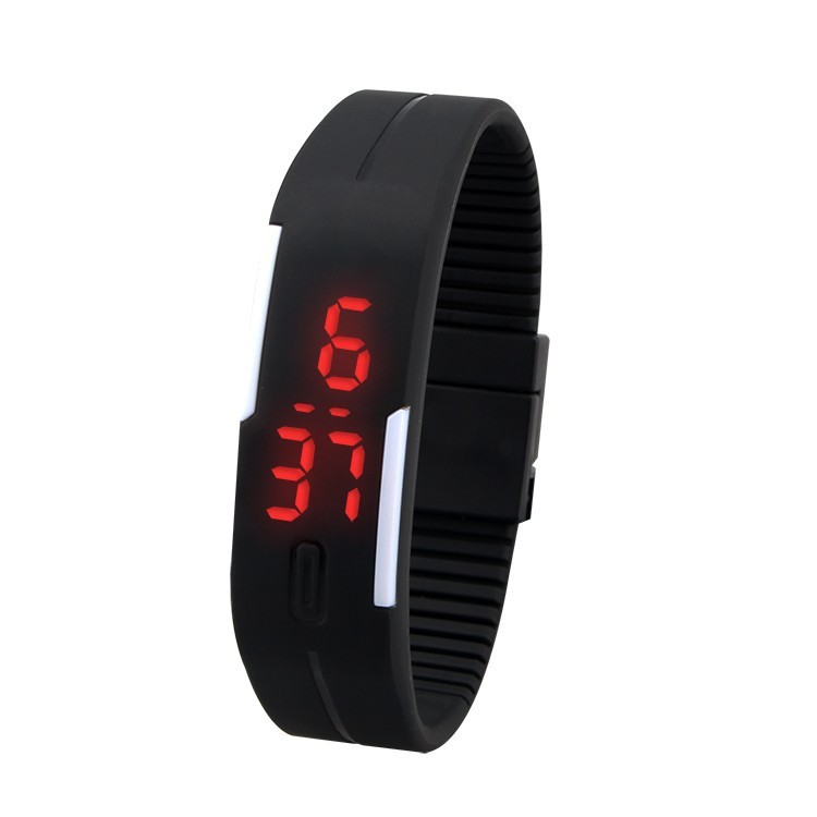 most fashionable sport square color watches silicon ultra thin led watch silicone kid watch - Color Watches