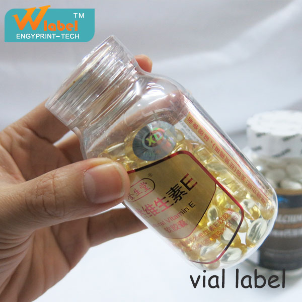 Private Label Vitamin Health Care Product Plastic Bottle Label
