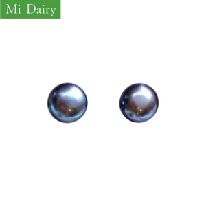 S925EH-0223 STOCK China direct sale Korean simple black pearl S925 pure silver ear studs