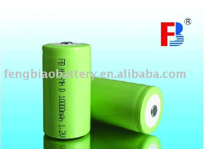 FB D 10000mAh rechargeable battery,NI-MH,1.2V