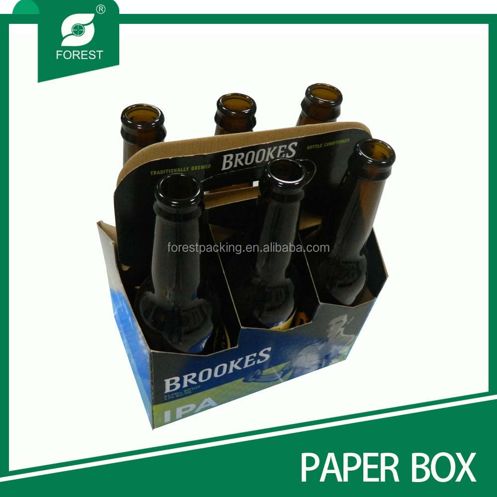 GOOD QUALITY 6 PACKS LOGO PRINTED BEER BOTTLES HOLDER
