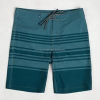 Custom latest design quick dry 4 way stretch striped men boardshort swimwear