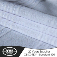 Good quality stripe thin curtain fabric design