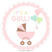 Baby Shower Decorations CUPCAKE TOPPERS It's a Girl Carriage Theme Party Decorations