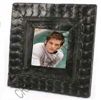 Recycled Bicycle Tire Rubber Photo Frame Square/Photo Frame Eco Friendly