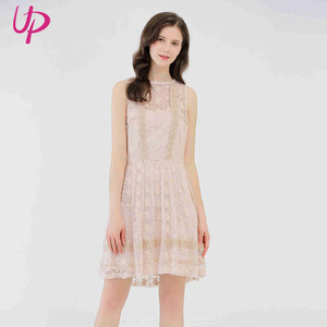Alibaba Online Sale Pink Plus Size One Size Fits All Lace Summer Dresses Ladies