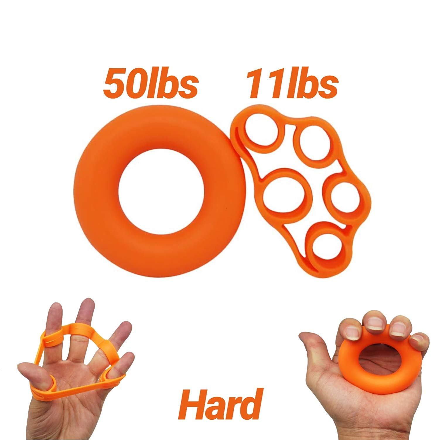 Diamond Finger Stretcher & Hand Grip Strengthener - 6 or 2 Pack - Strengthens Fingers, Hands, Wrists and Forearms - Best for Climbing, Golf & Tennis Grip Power, Hand Therapy