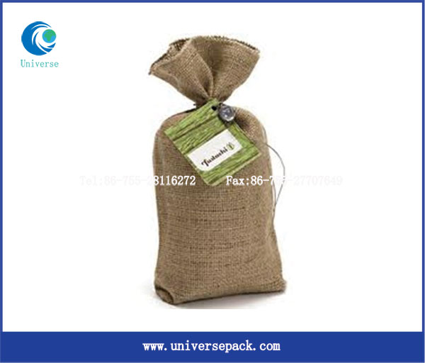 Custom promotional Jute grain Bags Jute Sacks