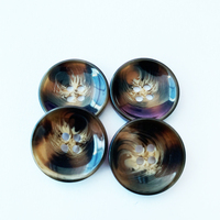 HYD Plastic Button Bowl Shape 22mm Fashion Designs High Quality Coat Buttons For Clothes 4holes Button