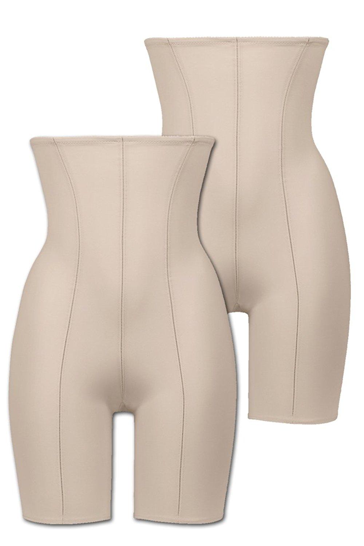 Naturana Women's Pack of 2 High Waist Long Leg Panty Girdle 0060