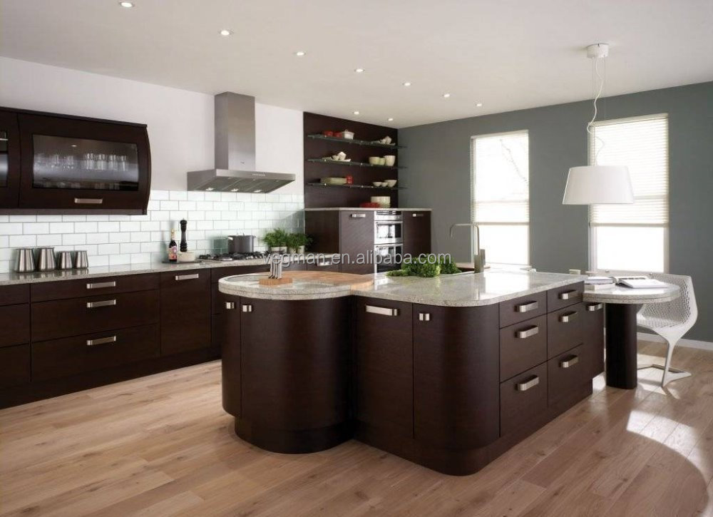 New Design Round Modular Kitchen Designs Used Aluminum Handles   Buy Wood  Grain Modular Kitchen Cabinets,Aluminum Furniture Handle,Modern Kitchen  Cabinets ...
