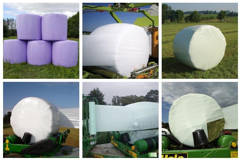 Ballenpresse Silage Wrap Film Für Ballen Heu Wrap oder Silage Gras und Kulturen Verpackung