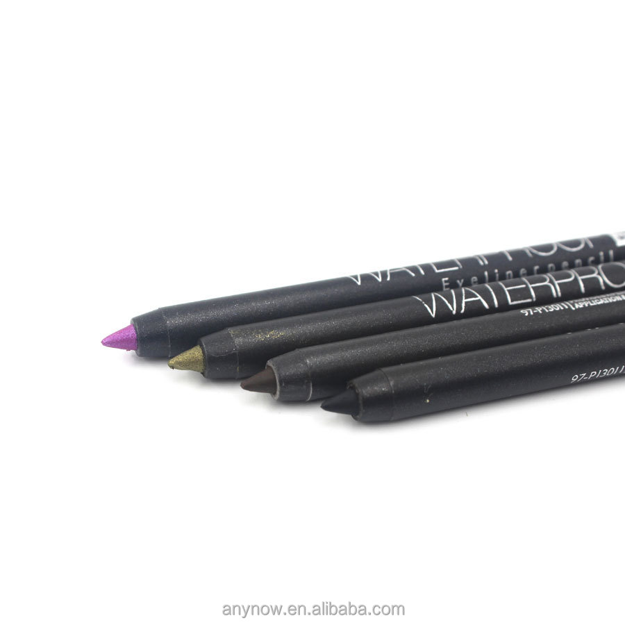 Fashionable waterproof color box packing magic eyeliner pencil