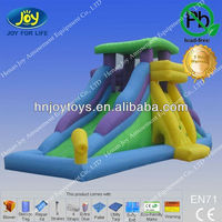 2013 hot inflatable water slide with cannon